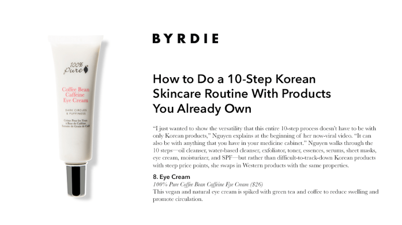 Press Release: Byrdie.com