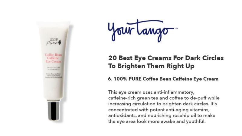 Coffee Bean Caffeine Eye Cream 100 Pure