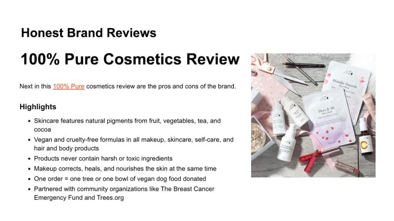 Press Release: Honest Brand Reviews